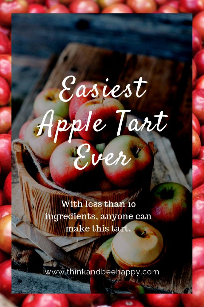 """With less than 10 ingredients, anyone can make this """"easiest apple tart ever"""""""