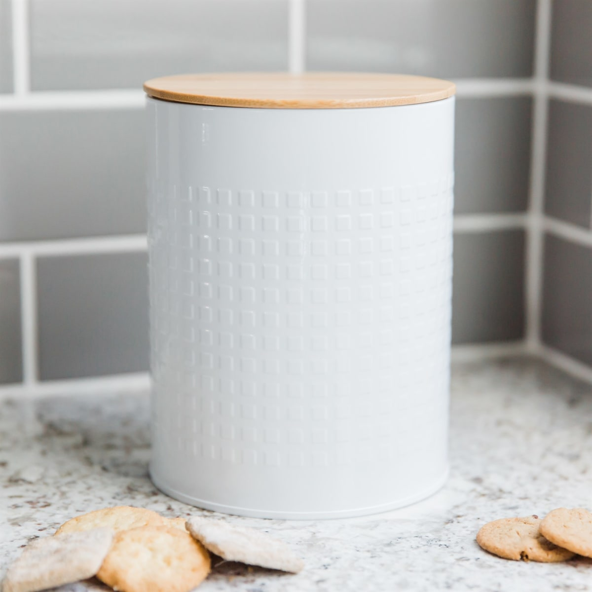 Cookie Canister with Bamboo Lid